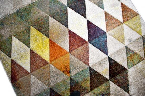 Carpetia.de - Moderner Teppich Kurzflor Teppich braun orange ...