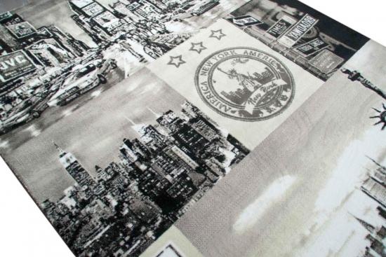 Carpetia De Designer Teppich New York Motiv Grau Schwarz
