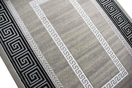 Carpetia De Designer Teppich Wohnzimmerteppich Versace Muster Grau