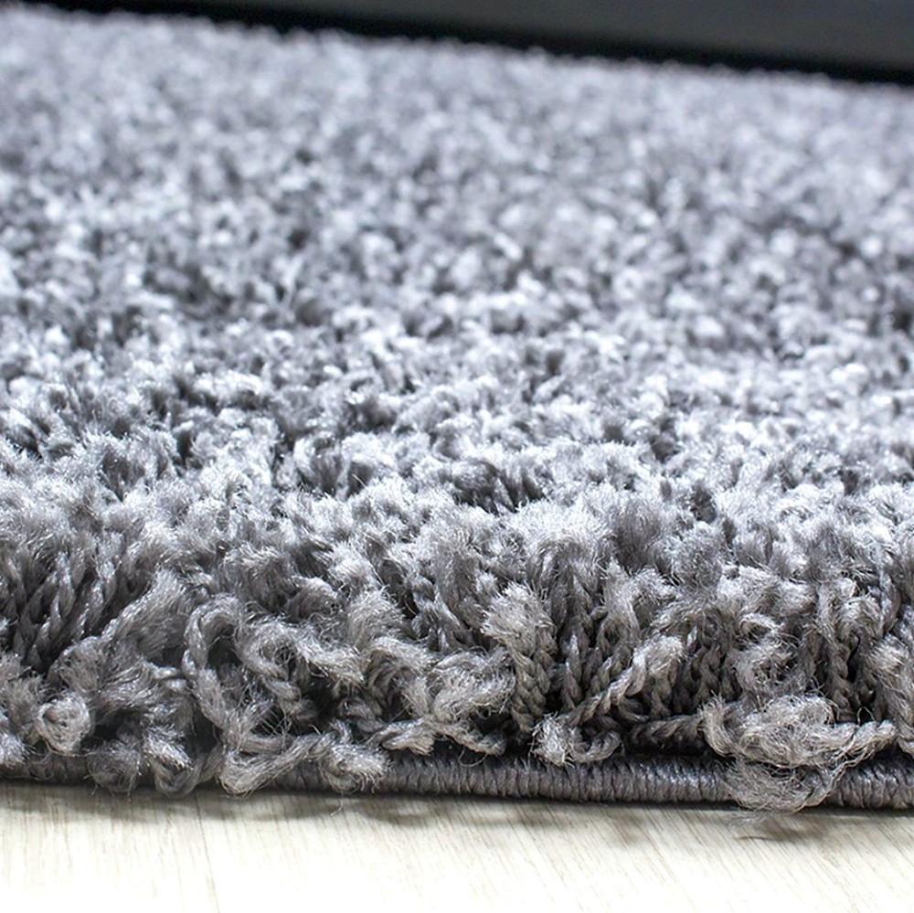shaggy teppich hochflor langflor bettvorleger wohnzimmer teppich l ufer uni hell ebay. Black Bedroom Furniture Sets. Home Design Ideas