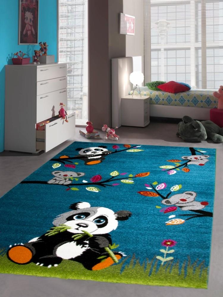 Carpetia.de - Teppich für Kinderzimmer mit Pandabären: Pflegeleicht ...