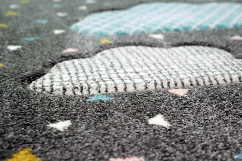 CARPETIA Tappeto da Gioco per Bambini e Nuvole Rosa Gr/ö/ße 140x200 cm