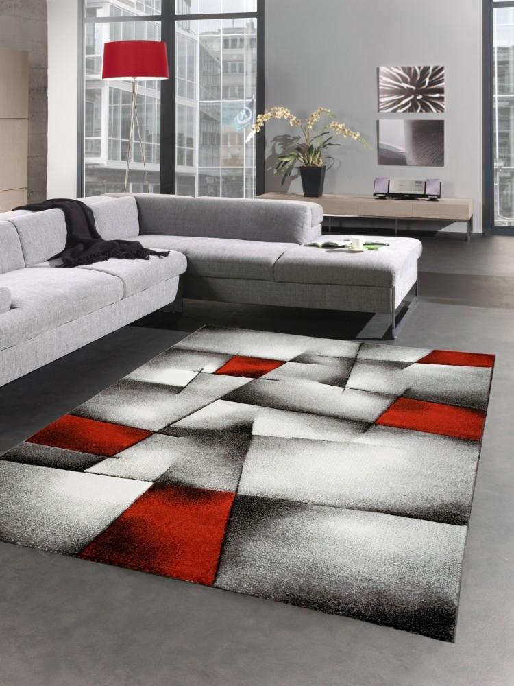 Moderno tappeto karo nero grigio rosso ebay - Tappeto riscaldamento pavimento ...