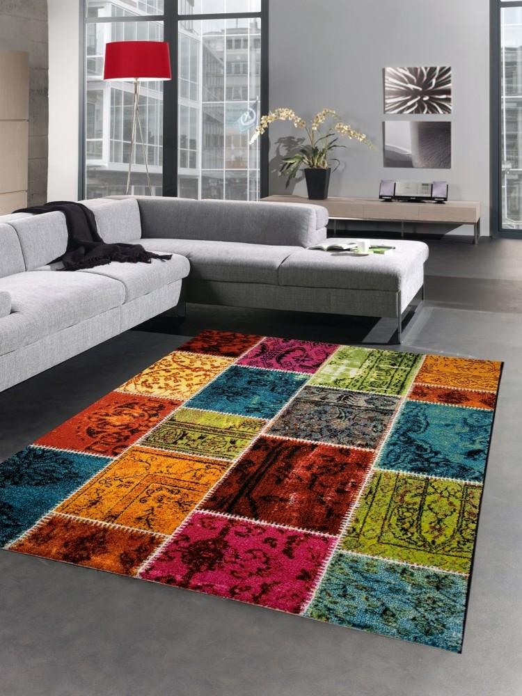 designer teppich patchwork vintage wohnzimmerteppich. Black Bedroom Furniture Sets. Home Design Ideas